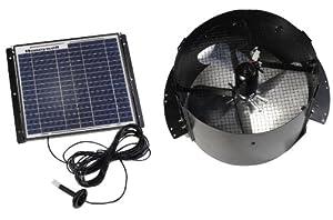 Honeywell 527SHON103BLK 12-Watt Gable Mount Solar Powered Attic Fan