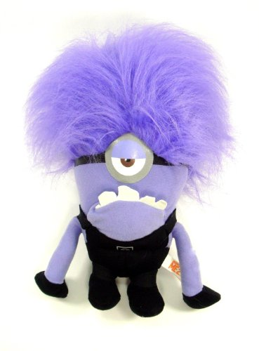 Despicable Me 2 - Evil ONE EYED Purple Minion 10 Plush - 1