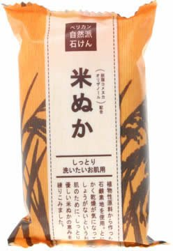 ペリカン 自然派石けん 米ぬか 100g