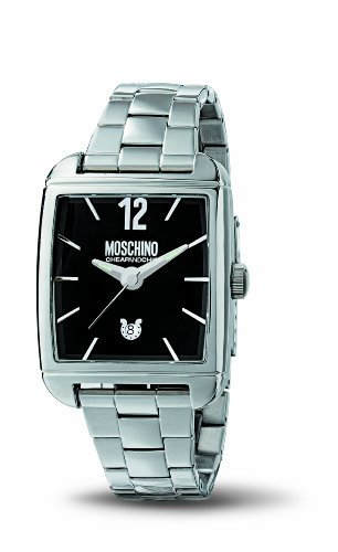 Moschino MW0106 TIME FOR GENTLEMEN  Black dial, ss case and bracelet watch