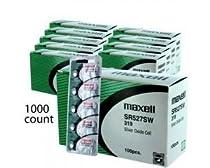 1000 pc Maxell SR527SW SR64 319 SR527 Silver Oxide Watch Battery