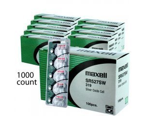 1000 pc Maxell SR527SW SR64 319 SR527 Silver Oxide Watch Battery