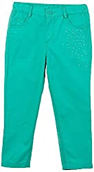 Beebay Studded Canvas Trouser (G5413210803713_Green_7Y)