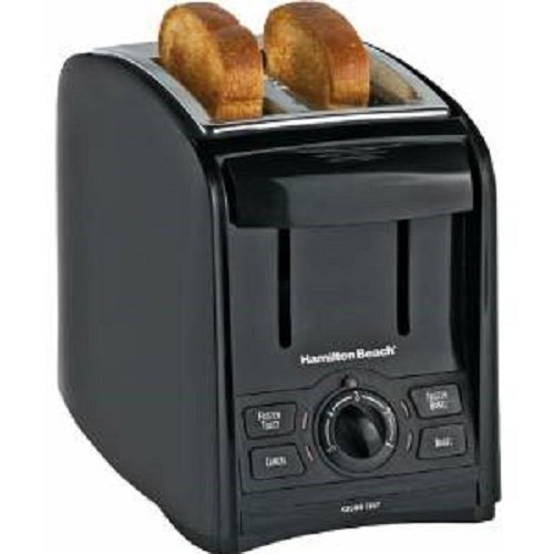 Hamilton Beach 22121 Black 2 Slice Smart Toast Toaster