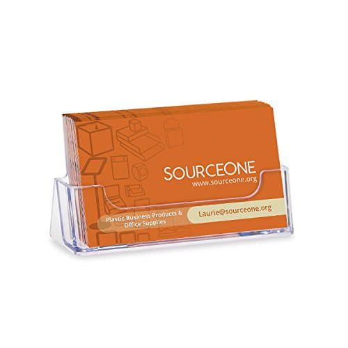 Source One Quantity 10 Clear Plastic Business Card Holder Display Counter (S1-CA-10PBC) (Plastic Index Card Display compare prices)