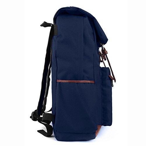 qualità migliore qualità nuovo di zecca EcoCity Unixex Vintage Zaino Trekking Notebook Zaini Scuola ...