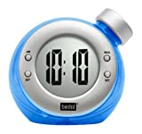Water Powered Clock Round, Blue