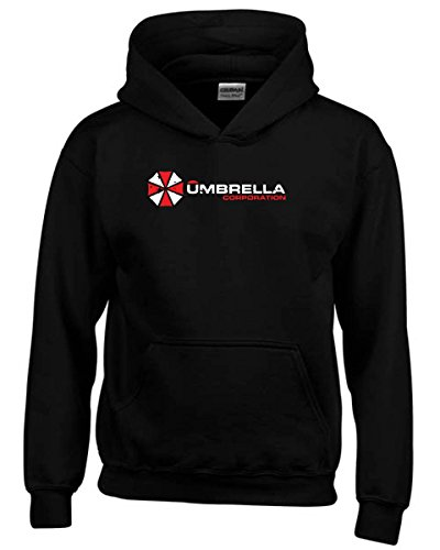 T-Shirtshock - Felpa hoodie bambino TF0044 inspired by Resident Evil The Umbrella Corporation, Taglia 9-11anni