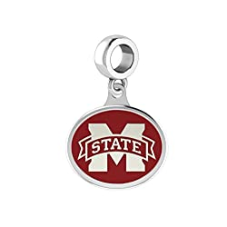 Mississippi State Bulldogs Enamel Drop Charm Fits All Pandora Style Bracelets