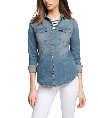 ESPRIT - Aus Jeans, Camicetta da donna, blu (blue medium wash 902), 40 (Taglia produttore: L)