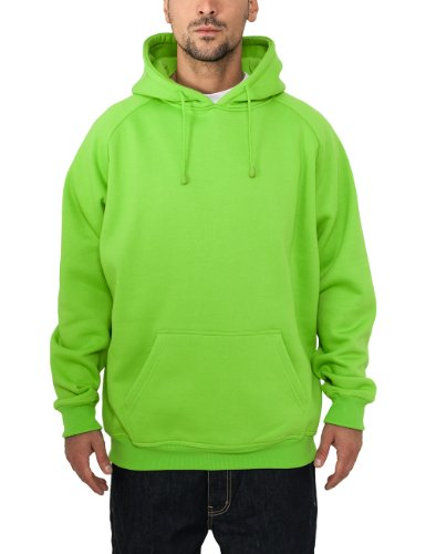 Urban Classics Bekleidung Pullover Felpa da Uomo, Verde (Limegreen), Small (Taglia Produttore: Small)