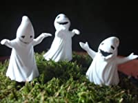 """Fiddlehead Fairy Garden """"Set of 3 Ghosts c/w Picks"""" Limited Edition from Georgetown Home & Garden"""