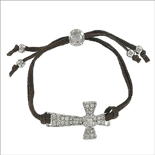 Cross with Leather String Band Bracelet #041651