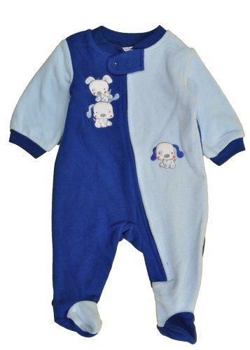 Absorba Baby-Boys Newborn B Puppy Blanket Sleeper, Blue, 0-3 Months front-940125