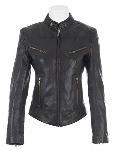 Giacca da moto donna di MDK in vera pelle di pecora super morbida molto moda