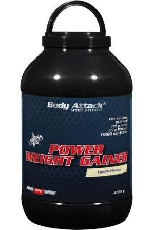 Body Attack Power Weight Gainer 4.75 Kg Eimer Erdbeer