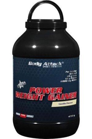 Body Attack Power Weight Gainer 4.75 Kg Eimer Erdbeer