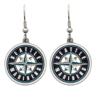 Seattle Mariners Dangle Earrings - MLB Baseball Fan Shop Sports Team Merchandise at Amazon.com