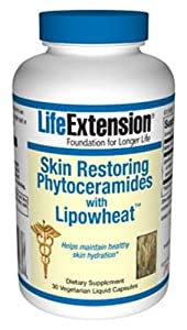 Life Extension Skin Restoring  Phytoceramides w/ Lipowheat 30 caps