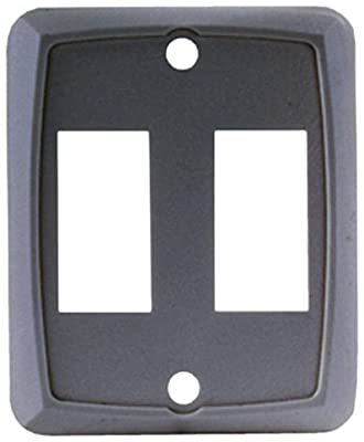 JR Products 12881-5 Black Double Face Plate - Pack of 5