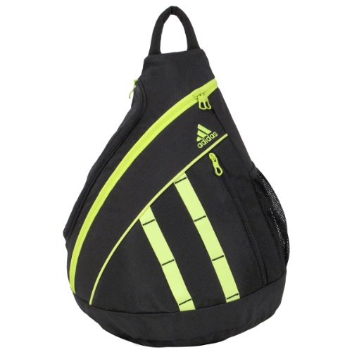Adidas Shermer Sling Backpack, Black/Electricity, 19 1/4X14X7-Inch back-1048209