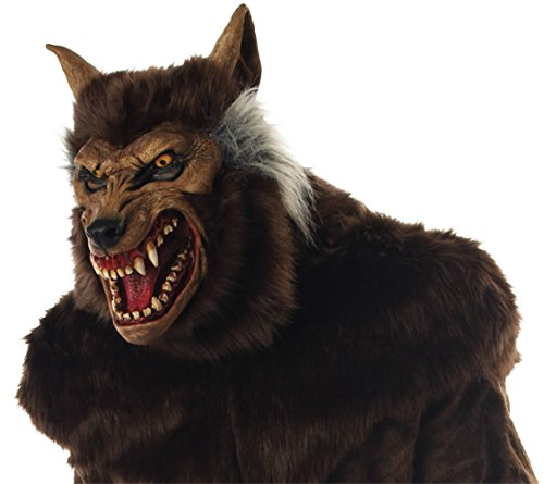 Werewolf Deluxe Scary Beast Monster Horror Latex Adult Halloween Costume Mask