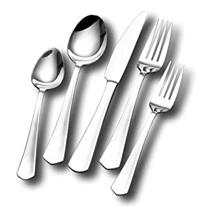 Cuisinart Sienna 55-Piece Stainless Steel Flatware Set: Kitchen