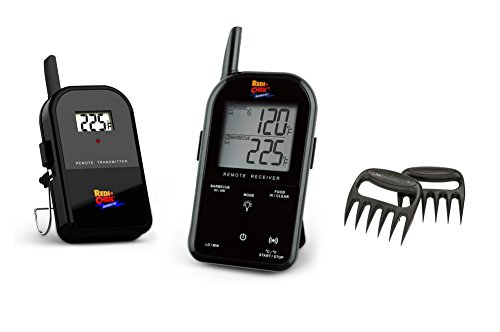 Maverick Wireless Barbecue Thermometer - Black ET732 - Includes Bear Paw Meat Handlers (Maverick Meat Thermometer compare prices)