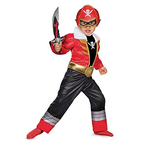 [Disguise Saban Super MegaForce Power Rangers Red Ranger Toddler Muscle Costume, Medium/3T-4T] (Power Rangers Megaforce Halloween)