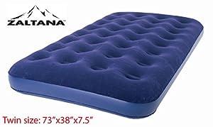 """Zaltana Twin Size Air mattress (73""""x38""""x7.5"""") Twin, Navy Blue AMT-N"""