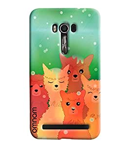 Omnam Wolf And Cats Posing Printed Designer Back Cover Case For Asus Zenfone Go