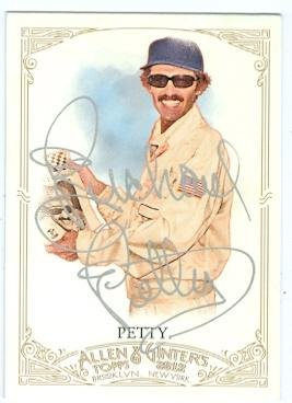 Richard Petty autographed trading card (Auto Racing NASCAR Legend) 2012 Allen and Ginters #61 SILVER