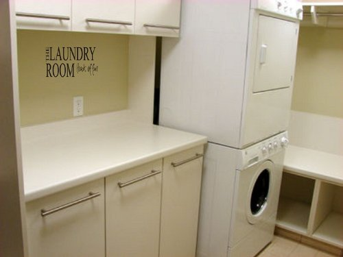 Wall art Laundry room vinyl home decor stickers letters quotes love family life