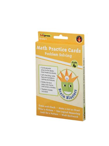 Brain Blasters Problem Solving Cards Grade 4
