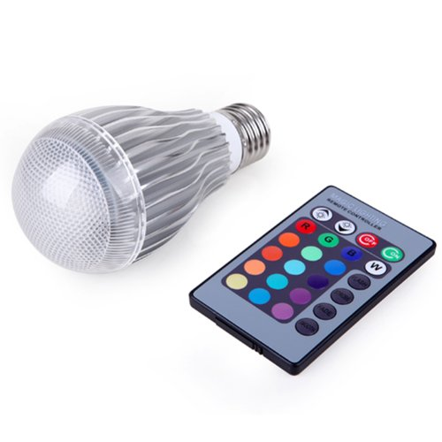 Hde Energy Efficient 9W Led E27 Color Changing Mood Light Bulb W/ Remote Control & Dimmer