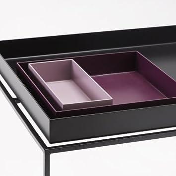 hay couchtisch tray table rechteckig schwarz metall pulverbeschichtet couchtisch. Black Bedroom Furniture Sets. Home Design Ideas