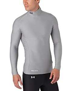 Under Armour Men's ColdGear® Evo Long Sleeve Compression Mock Small True Gray Heather