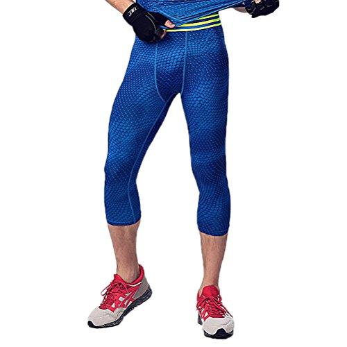 Prettywell Mens Sports Compression Quick Dry Calf Length Tight Pants MA23 BLL