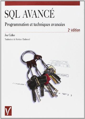 SQL avancé : programmation et techniques avancées gratuit