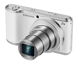 Samsung GC200 Galaxy Camera 2 - 16.3 Megapixel CMOS, 21x Optical Zoom, Android 4.3, WiFi and 4.8-inch Touchscreen LCD Display - White (Certified Refurbished)