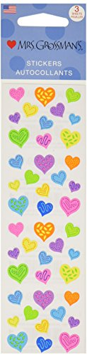 Mrs. Grossman's Stickers-Happy Hearts