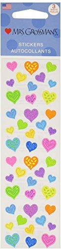 Mrs. Grossman's Stickers-Happy Hearts
