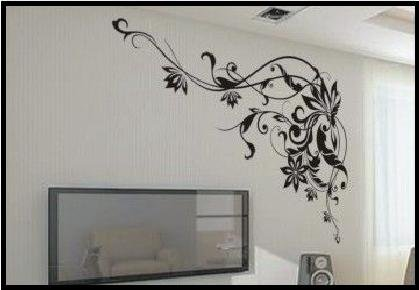 Vine Frame - G - Large Wall Decals Stickers Appliques Home Decor front-507435