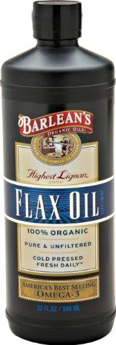 Barlean's Organic Oils High Lignan Flax Oil, 32-Ounce Bottle