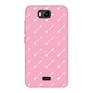 Impressive Pink And Arrow Multicolor Back Case Cover for Honor Bee
