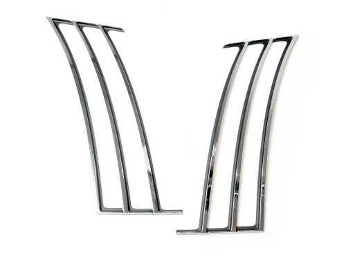 Drake Muscle Cars CA-190001-C Chrome Quarter Panel Trim for Chevrolet Camaro (Camaro Gill Vent compare prices)