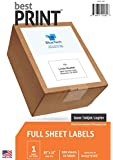 "Full Sheet - Best Print® Address Labels - 8-1/2"" x 11"" (Same size as Avery® 5165), 100 Labels"