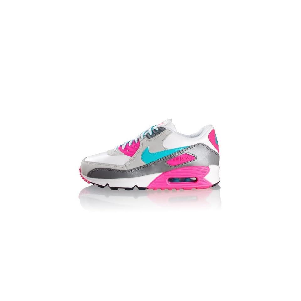 Nike Air Max 90 2007 Schuh Weiss Türkis Pink Schuhe on PopScreen
