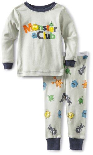 Vitamins Baby-Boys Infant 2 Piece Monster Club Pajama Set, Gray, 24 Months