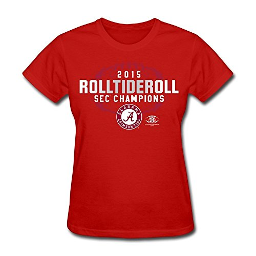 LOOIN Women's Alabama Crimson Tid 2015 Sec Conference Football Champions T-Shirt XXL